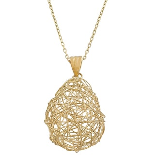 Fremada 14k Yellow Gold Wired Teardrop Adjustable Necklace