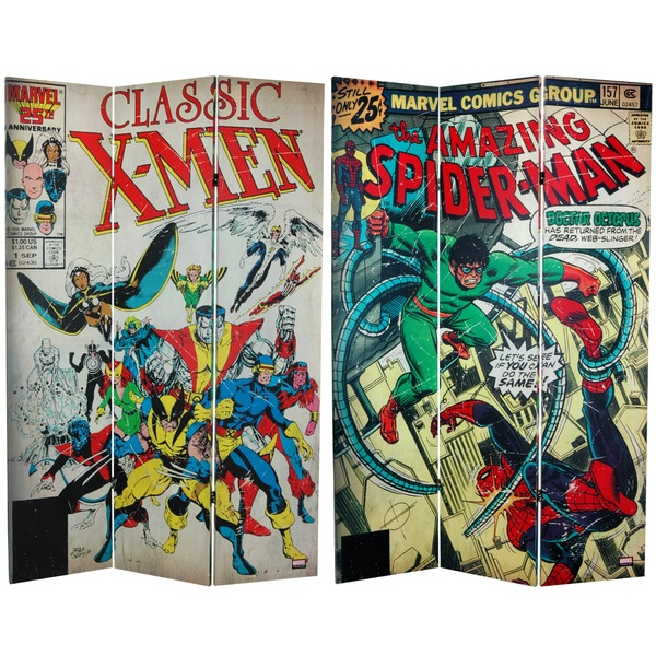 6-foot Tall Double Sided Spider-Man/X-Men Canvas Room Divider