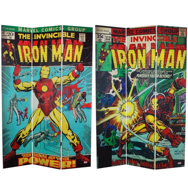 6-foot Tall Double Sided The Invincible Iron Man Canvas Room Divider