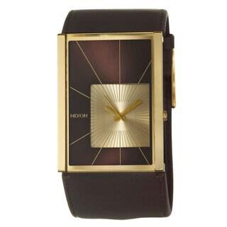 Nixon Women's Yellow Gold-plated Steel 'Motif' Watch