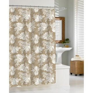 Shop Coastal Seashells Sand Shower Curtain Free Shipping