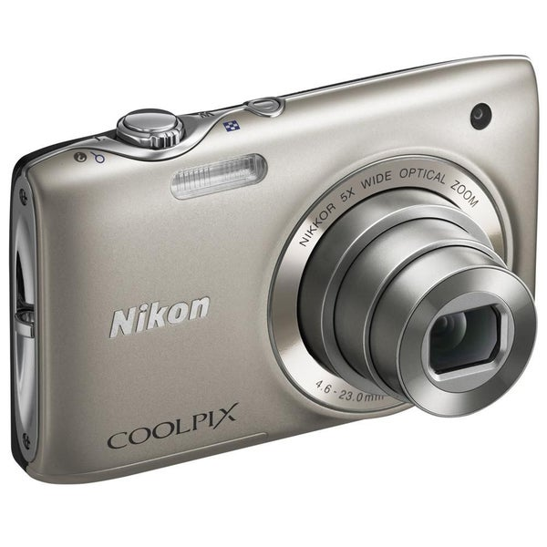 Nikon Coolpix S3100 14MP Silver Digital Camera (Refurbished)