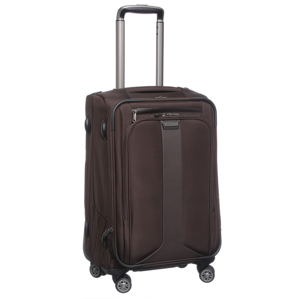 Biaggi Tecno Collection Foldable 22-inch Expandable Spinner Carry On Suiter Upright