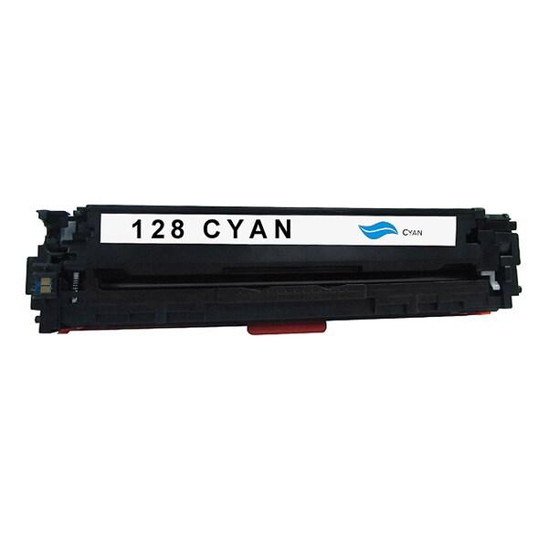 HP 128A Compatible Cyan Toner Cartridge for Hewlett Packard CE321A (Remanufactured)