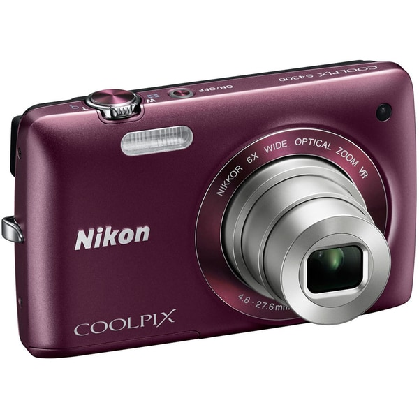 Nikon Coolpix S4100 14MP Plum Digital Camera (Refurbished)