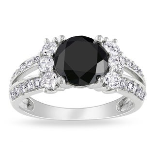 Miadora Signature Collection 14k Gold 2 5/8ct TDW Black and White Diamond Ring (G-H, I1-I2)