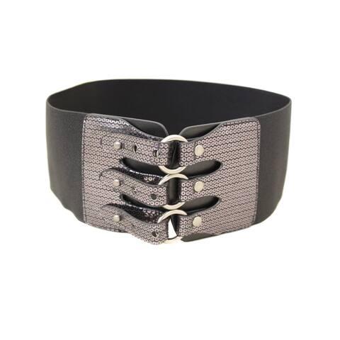 Women's All American Glam Elastic High Waist Stretch Belt