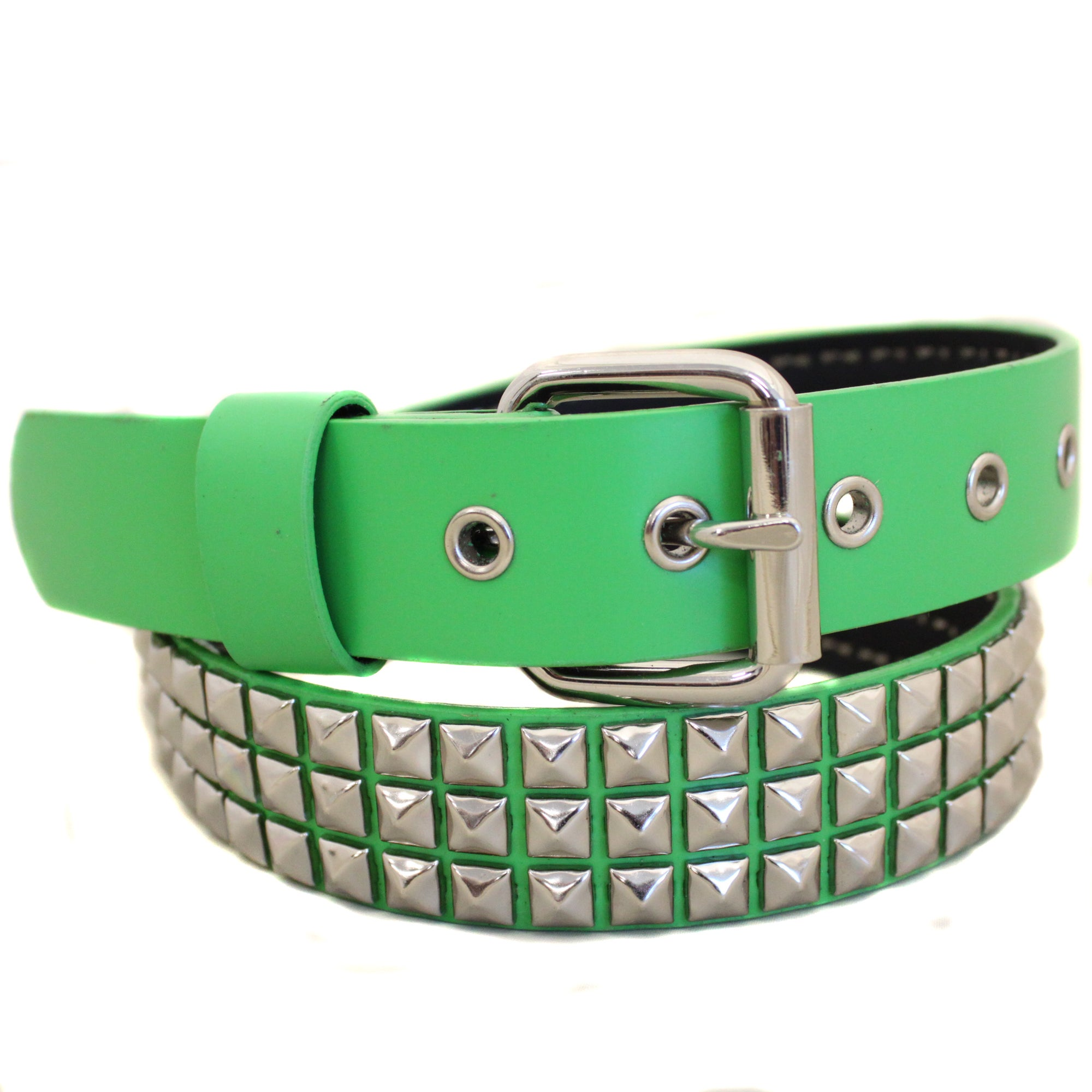 Enterprises Men's Entourage Studded Kelly Green Belt (Med...