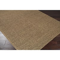 Hand-woven Casual Solid Colored Alpson Wool Area Rug