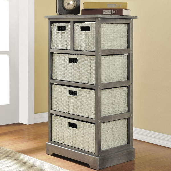 Altra Grey Storage Unit with 5 Baskets