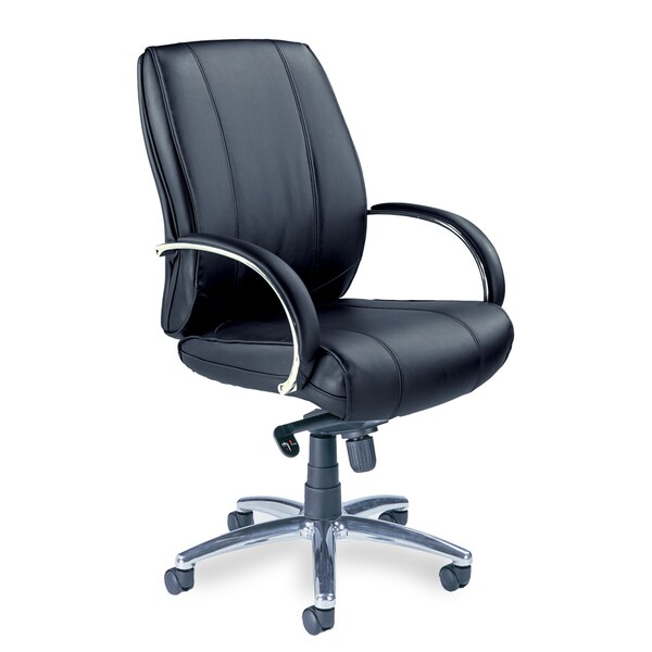 Mayline Optima Mid-Back Executive Leather Chair