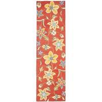 Safavieh Handmade Blossom Rust Wool Rug - 2'3 x 6'
