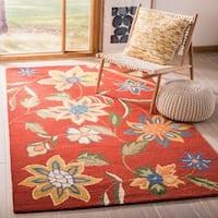 "Safavieh Handmade Blossom Rust Wool Rug - 2'3"" x 6'"