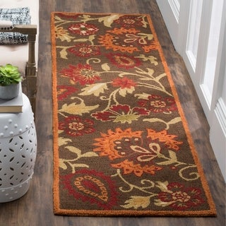 Safavieh Handmade Blossom Brown Wool Rug (2'6 x 10')