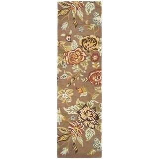 Safavieh Handmade Blossom Brown Wool Rug (2'3 x 11')