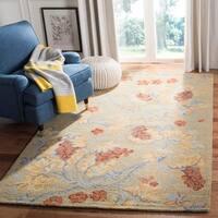 "Safavieh Handmade Blossom Beige Wool Rug - 2'3"" x 6'"