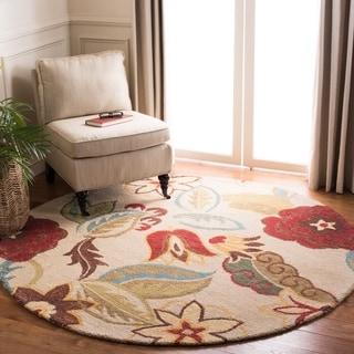 Safavieh Handmade Blossom Beige Wool Rug