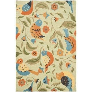 Safavieh Handmade Blossom Sage Green Wool Rug