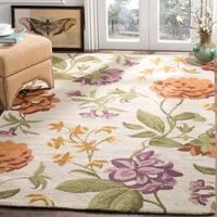 Safavieh Handmade Blossom Ivory Wool Runner Rug
