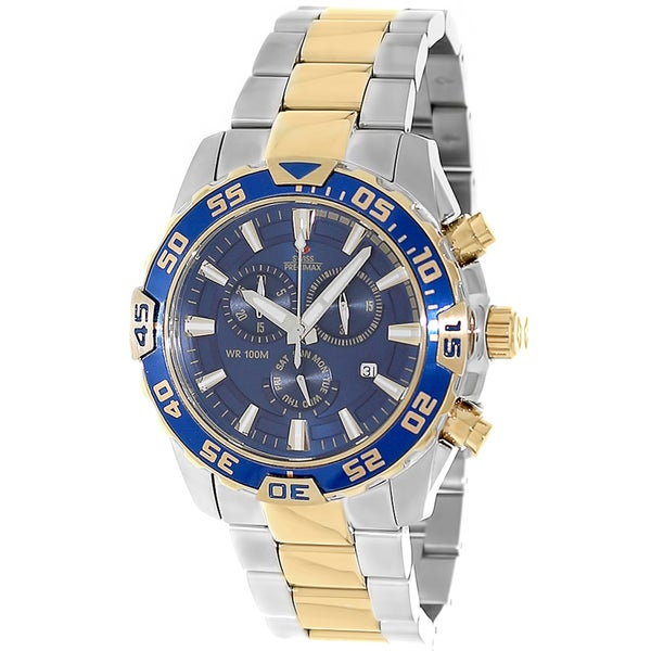 Swiss Precimax Men's Two-tone Steel Formula-7 Pro Watch