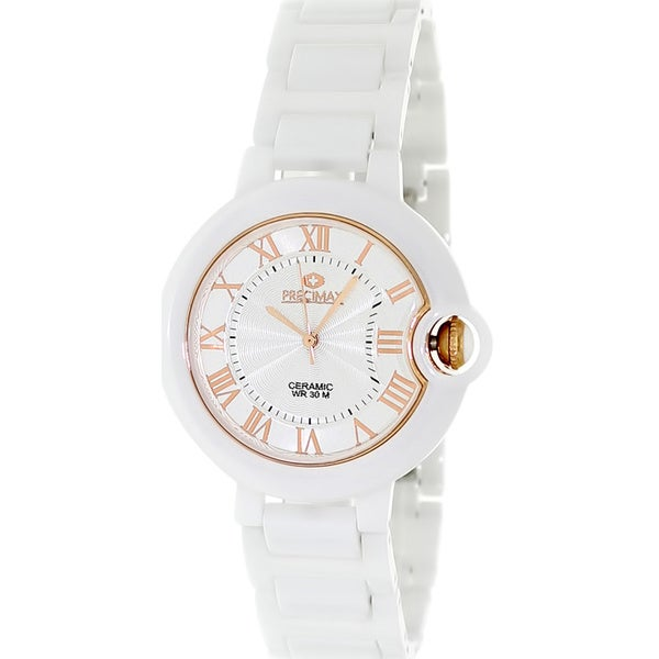 Swiss Precimax Women's White Ceramic Watch