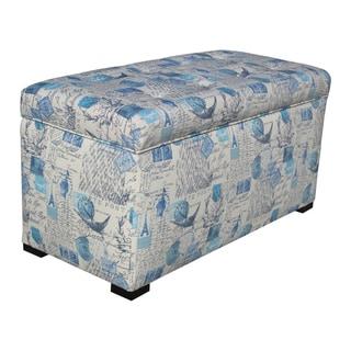 Angela Prime Artic Blue Storage Trunk