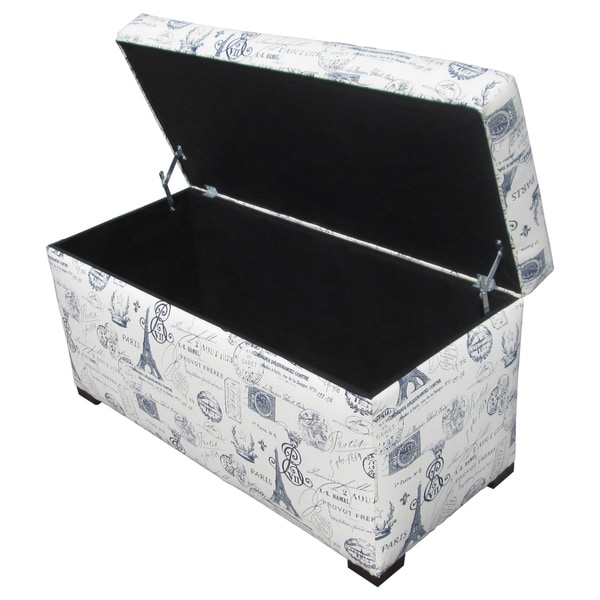 Sole Designs Angela Paris Match Blue Storage Trunk   Free Shipping Today    Overstock.com   14950062