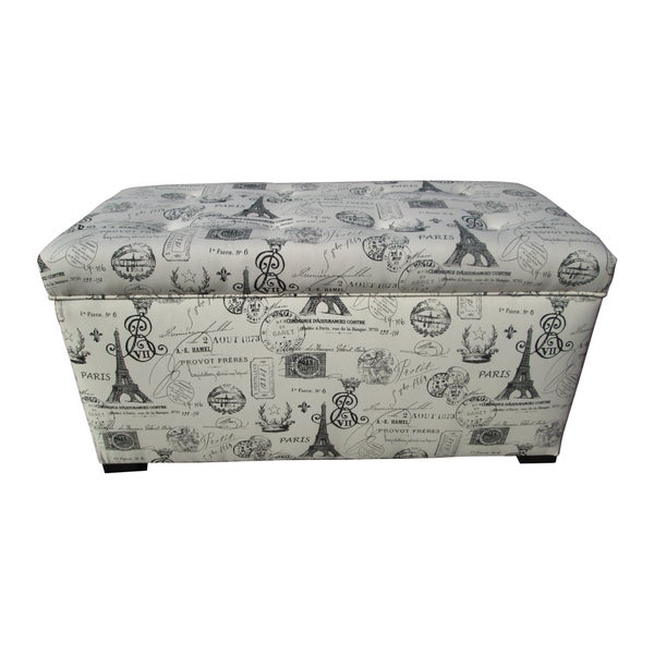 Sole Designs Angela Paris Match Onyx Storage Trunk   Free Shipping Today    Overstock.com   14950061