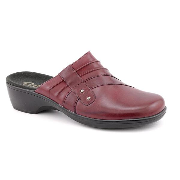 Clarks Women's 'May Flower' Leather Casual Shoes