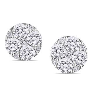 Miadora 14k White Gold 1 1/10ct TDW Diamond Earrings (G-H, SI1-SI2)