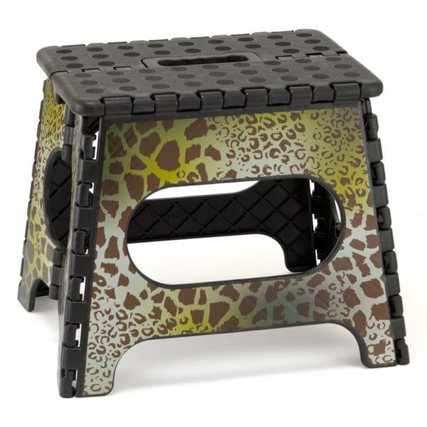 Three to Tango Leopard Folding Step Stool