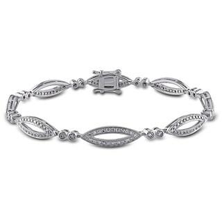 Miadora Signature Collection 14k White Gold 1 1/5ct TDW Diamond Bracelet