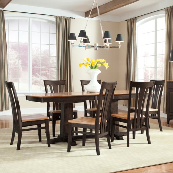 Intercon Summit Park 42-inch Two-tone Trestle Table