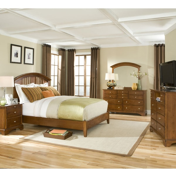 Intercon Shaker Simplicity Solid Birch Shaker Cherry Queen-size Bed