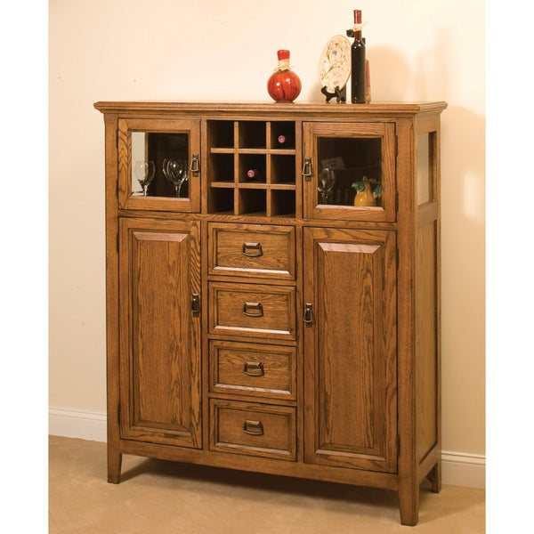 Intercon Lodge Park Solid Oak 52-inch Pantry Cabinet