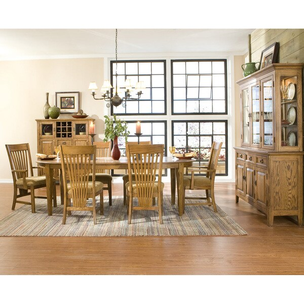 Intercon Lodge Park Solid Oak 44-inch Oval Dinette Table