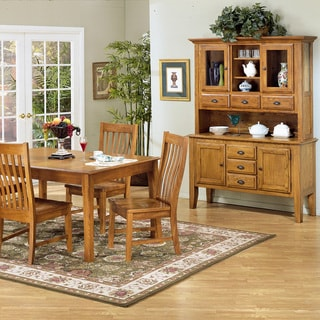 Intercon Cambridge Solid Oak 54-inch Rustic China Buffet