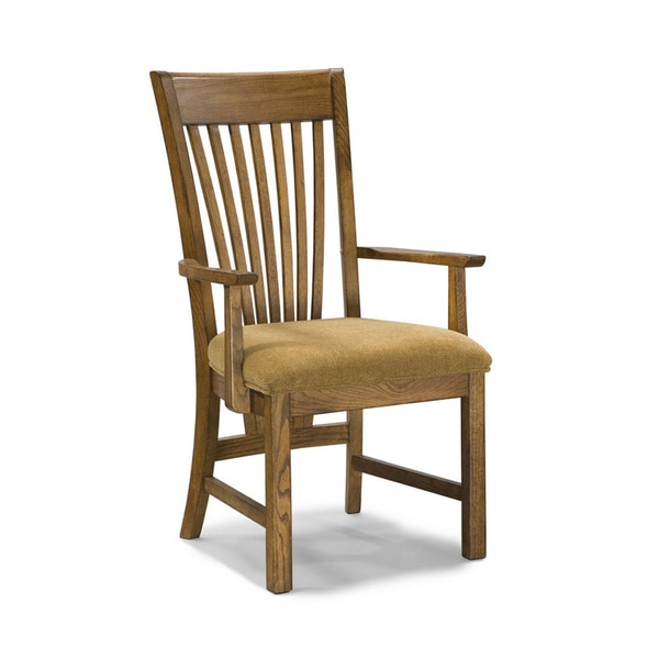Lodge Park Solid Oak Arm Chairs (Set of 2)