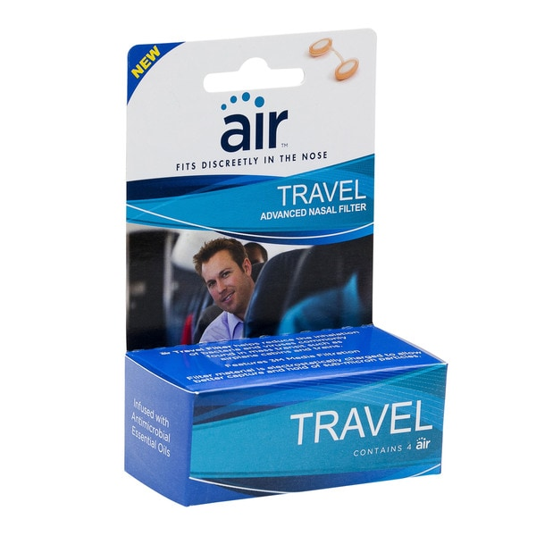 Air Travel Advanced Nasal Filter with Filtration Media (Pack of 8)