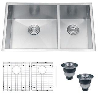 Ruvati RVH7515 Undermount 16 Gauge 32-inch Double Bowl Kitchen Sink