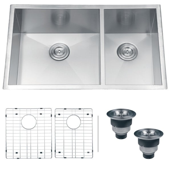 Ruvati RVH7515 Undermount 16 Gauge 32-inch Double Bowl Kitchen Sink