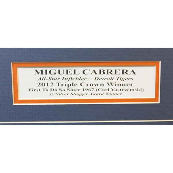 Miguel Cabrera Detroit Tigers Triple Crown Winner Composite Framed Picture 8x10