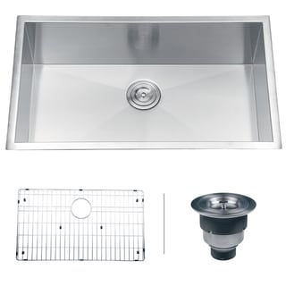 Ruvati RVH7405 Undermount 16 Gauge 32-inch Single Bowl Kitchen Sink