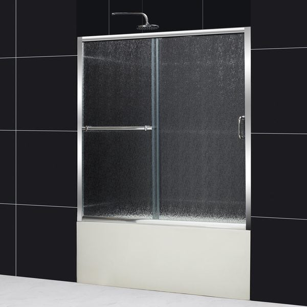 DreamLine Infinity Plus 56-60x58 Rain Glass Sliding Bathub Door