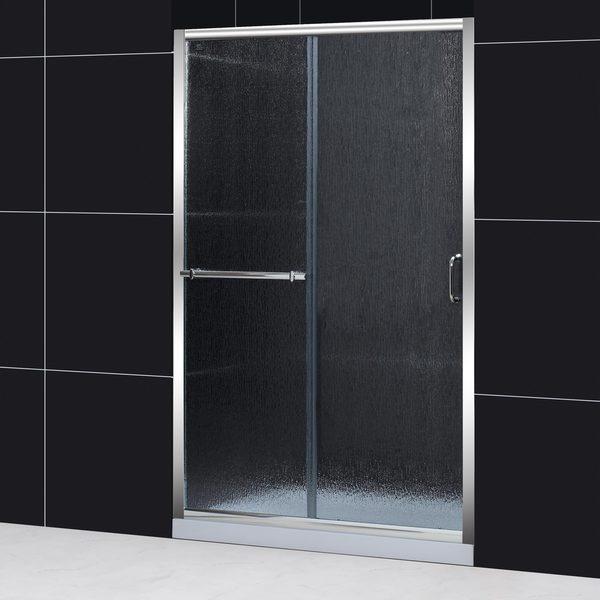 dreamline infinity plus 4448x72 rain glass sliding shower door