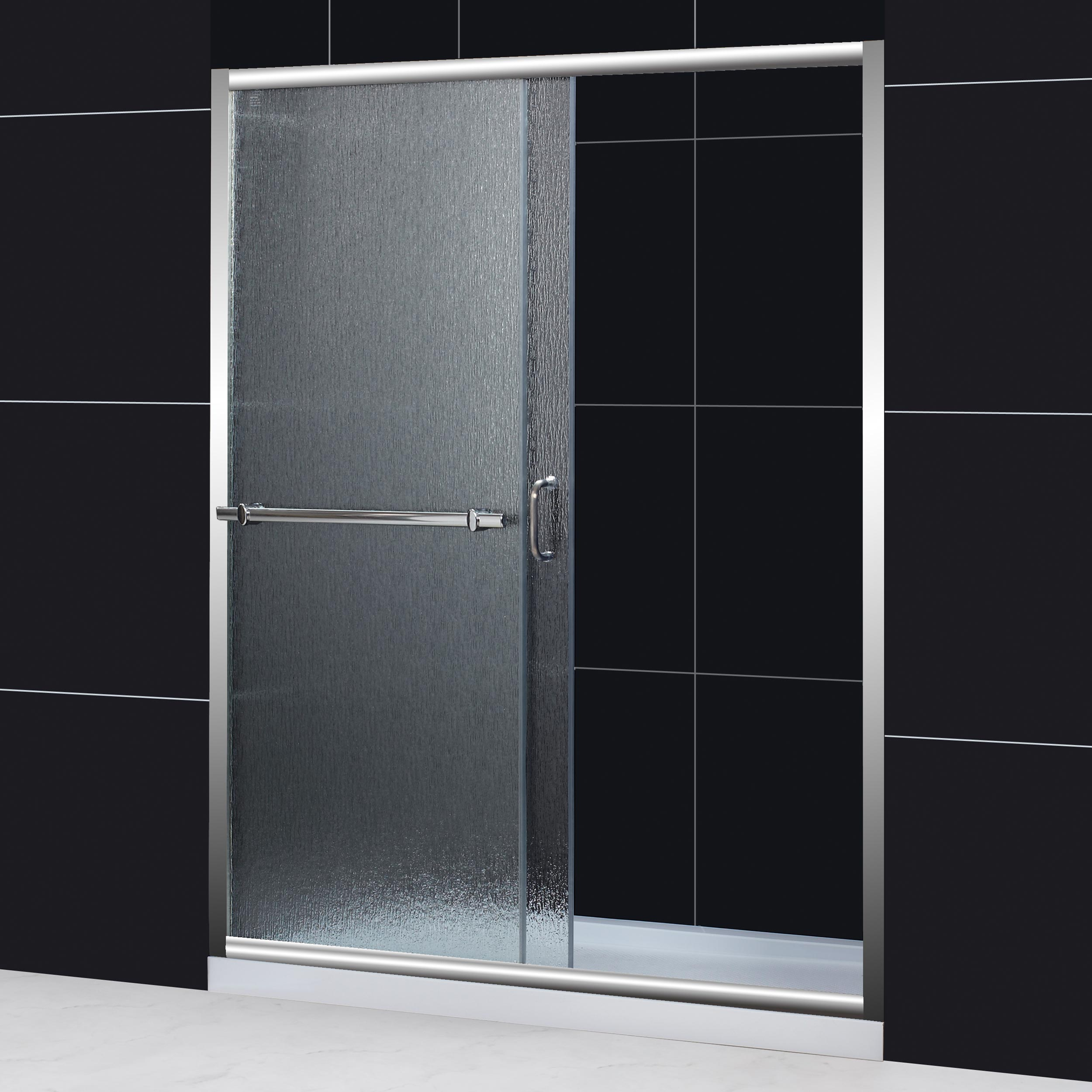 Dreamline Infinity Plus 56 60x72 Rain Glass Sliding Shower Door
