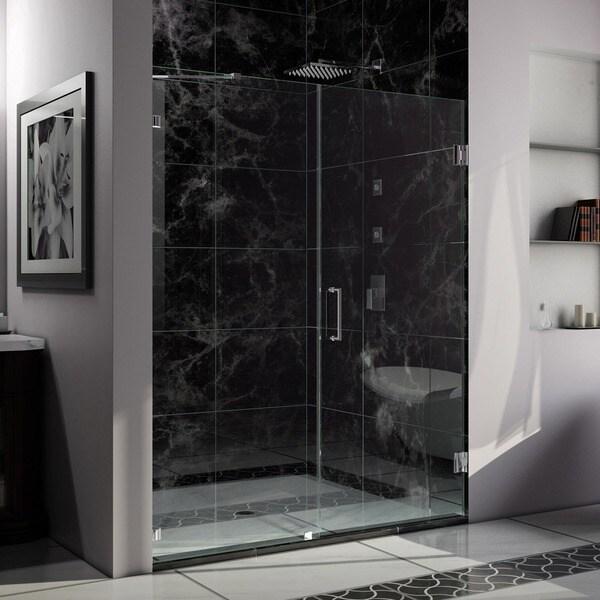 DreamLine Unidoor Lux 57-60 in. Frameless Hinged Shower Door. Not adjustable