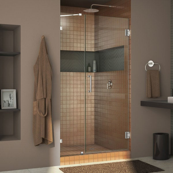 Dreamline Unidoor Lux 41 Inch Frameless Hinged Shower Door