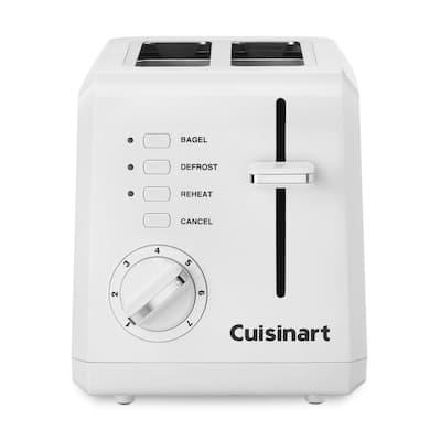Cuisinart CPT-122 2-Slice Compact Plastic Toaster, White