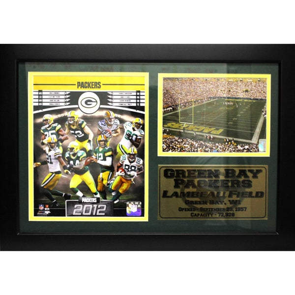 2012 Green Bay Packers 12x18-inch Photo Stat Frame